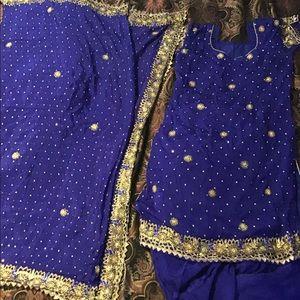 Other - Royal blue Salwaar kameez with duputta